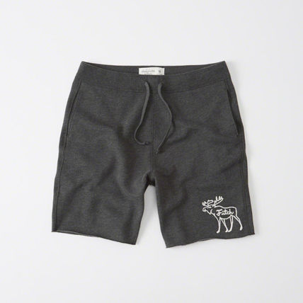 Abercrombie Moose embroidery set shorts - Dark H.Grey