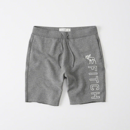 Abercrombie Moose embroidery set short - Heather Grey