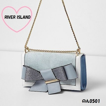 River Island reborn chain clutch bag BL