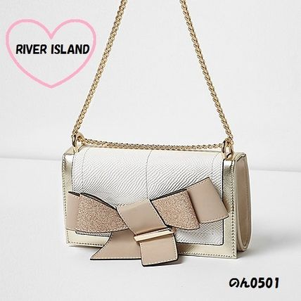 River Island clutch reborn chain BE