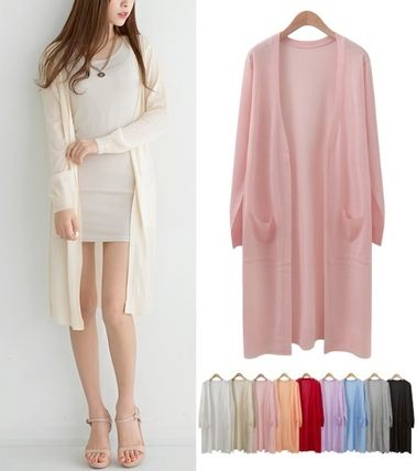 Thin soft open long cardigan all