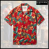 ★MUSTHAVE★「DIAFVINE」-リネンアロハシャツーFLORAL RED