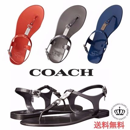 popular 3 color COACH Plato strap sandal
