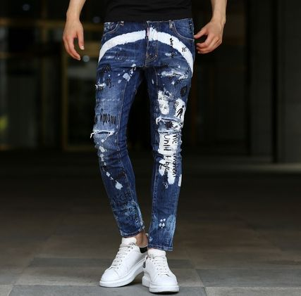 DSQUARED2 17AW illustration & multimedia damage jeans _TIDY
