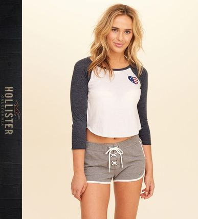 ★新作★送料込★Hollister★Crop Raglan Graphic Tee★
