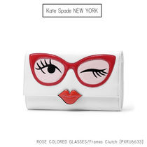 Kate Spade ROSE-COLORED GLASSES frames clutch PXRU6633