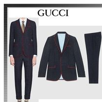 【17-18AW★GUCCI】モナコ ジオメトリック Wool Suits