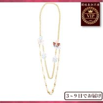 Dolce & Gabbana(ドルチェ&ガッバーナ) ネックレス・ペンダント 新作先取り★Ortensia and butterfly double-strand necklace