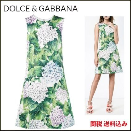 17 winter Dolce & Gabbana hydrangea floral print dress