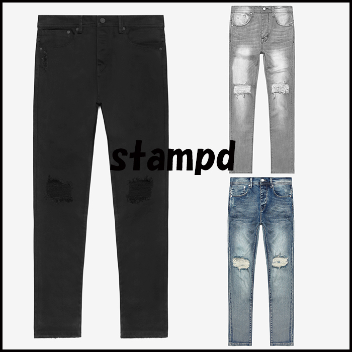 17SS 新作 Stampd' LA ESSENTIAL KNEE SPLIT ジーンズ