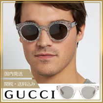GUCCI(グッチ) サングラス 【国内発送/関税込】GUCCI★Glittered round frame サングラス