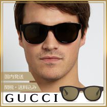 GUCCI(グッチ) サングラス 【国内発送/関税込】GUCCI★Square frame サングラス 黒 緑