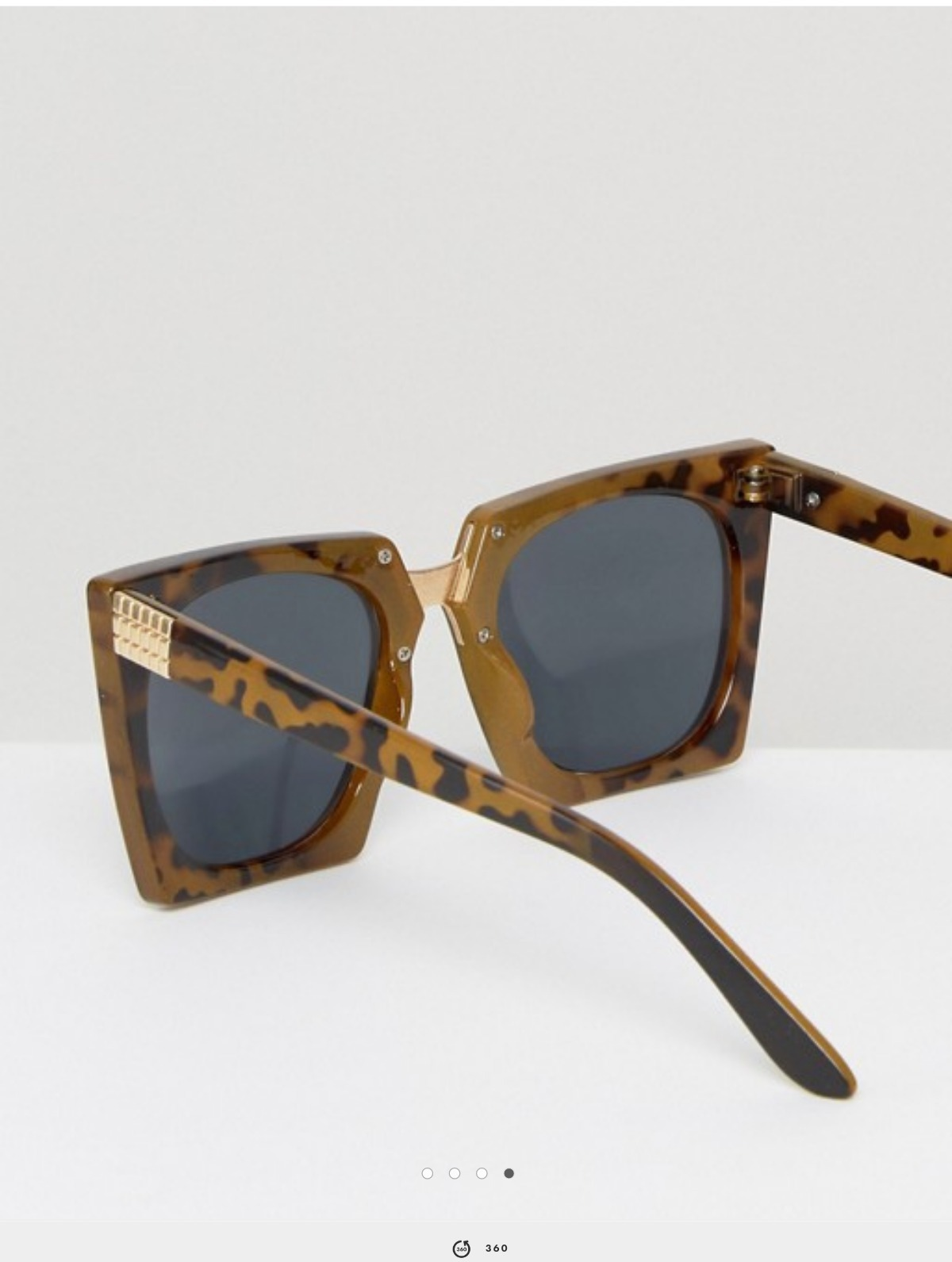 ASOS Chunky Square Sunglasses With Metal Nose Bridge