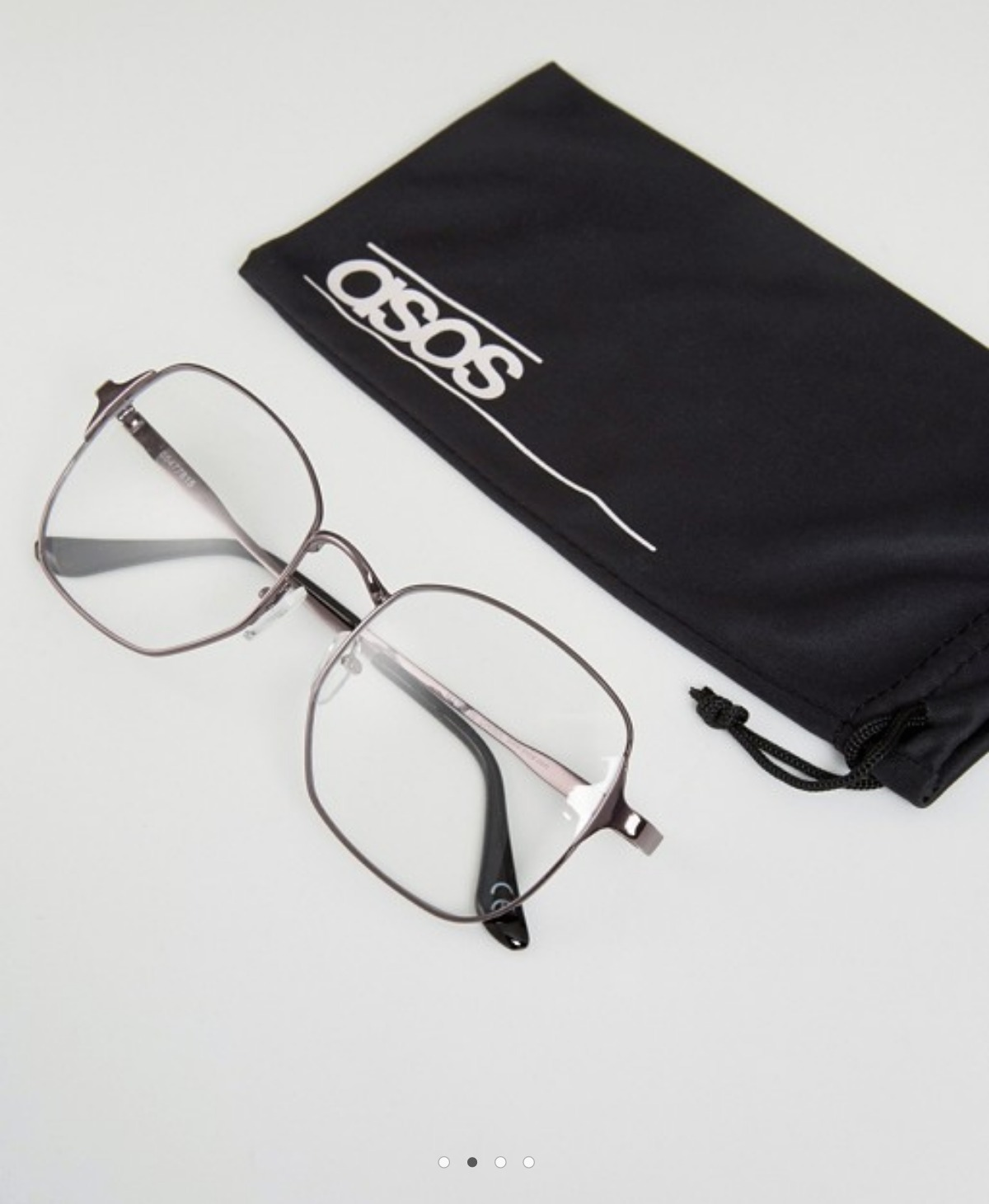ASOS Geeky Clear Lens Square Glasses