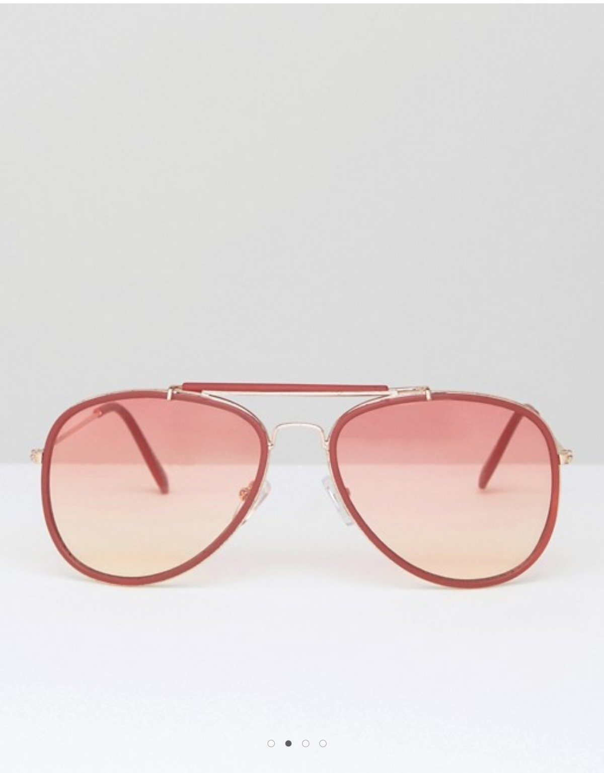 ASOS Oversized Aviator Sunglasses In Matt Red With Red Lens