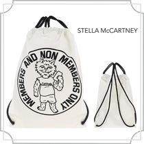 関税込☆printed Bad Cat backpack☆白☆Stella McCartney