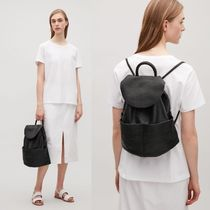 "COS(コス) バックパック・リュック ""COS""UNSTRUCTURED LEATHER BACKPACK BLACK"