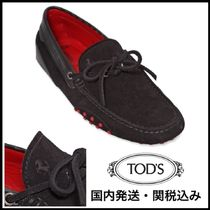 TOD'S(トッズ) ドレスシューズ・革靴・ビジネスシューズ 送関込【TOD'S FERRARI】GOMMINO 122 TIE SUEDE DRIVING SHOES