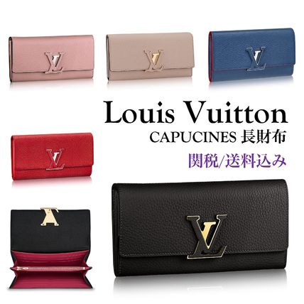 人気!【関税送料込】Louis Vuitton CAPUCINES 長財布