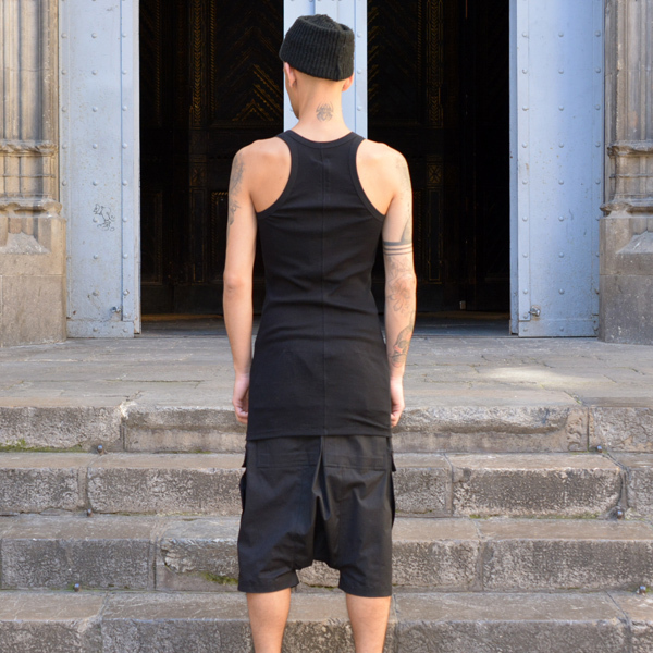 RICK OWENS MENS RIBBED TANKTOP BLACK [2017SS]