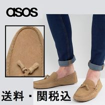 ASOS ドライビングシューズ In Stone Suede With Tassel