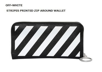 OFF-WHITE STRIPES PRINTED long wallet