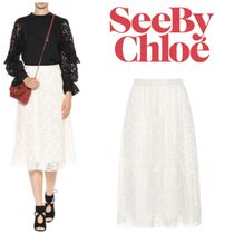 See by Chloe(シーバイクロエ)Pleated レーススカート