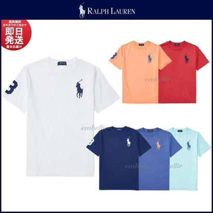 Shipping Ralph Lauren adult OK BIGPONY embroidered T shirts