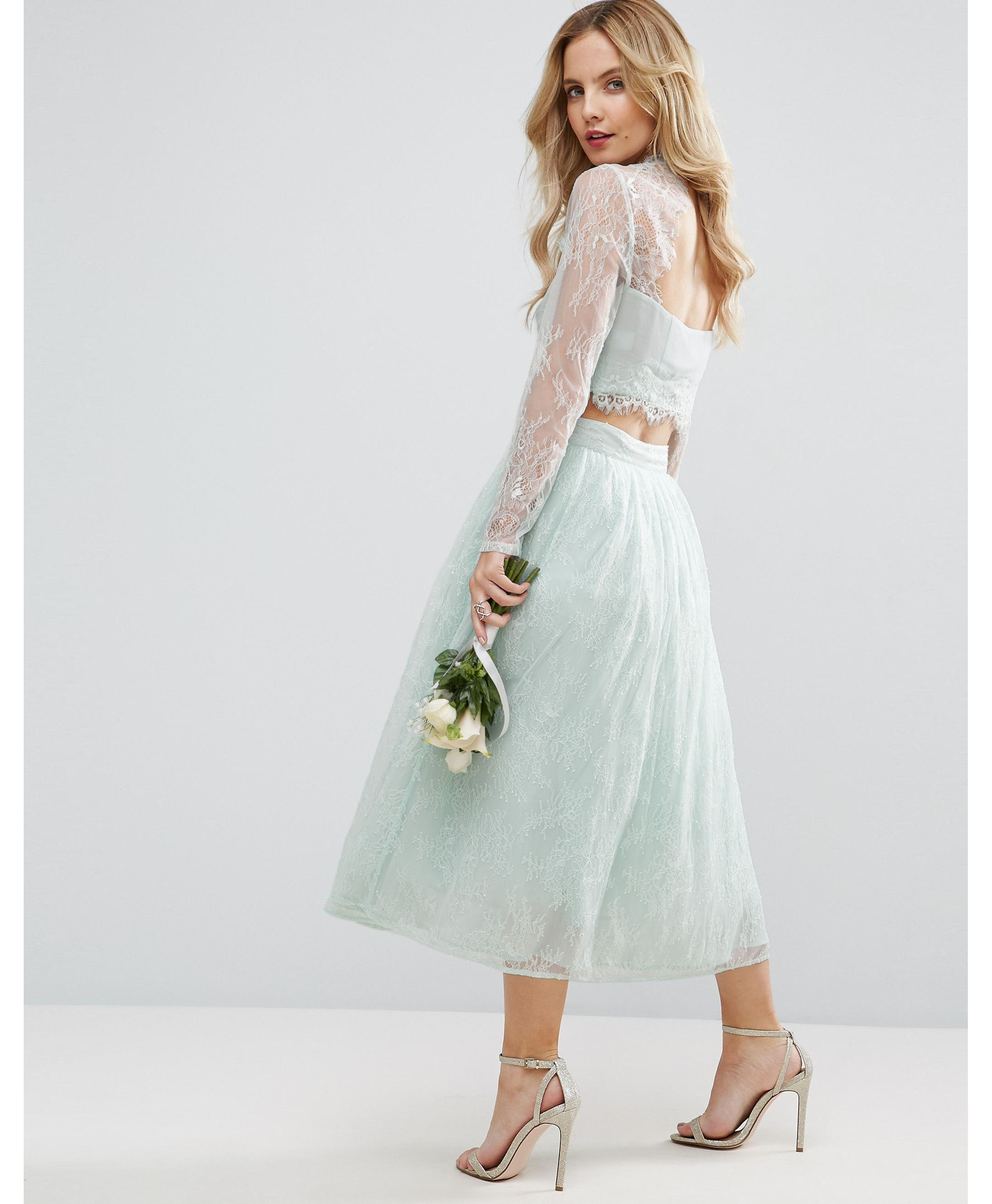 ★送関込★ASOS PETITE Bridesmaid Lace Insert Top