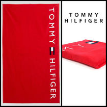 Tommy Hilfiger(トミーヒルフィガー) タオル 【大人気】 トミーヒルフィガー LOGO タオル レッド