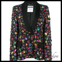 Moschino(モスキーノ ) アウターその他 floral embroidered blazer