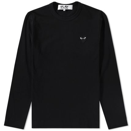 COMME des GARCONS plain and long sleeve heart logo T shirt