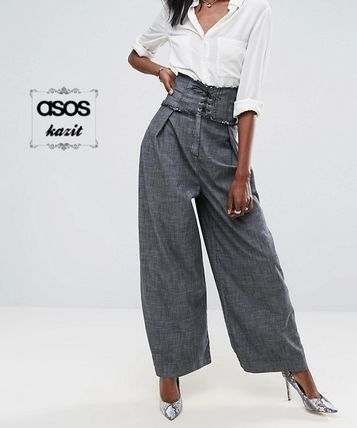 * ASOS * * lace UP high waist pants/d