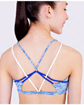 ivivva athletica(イヴィヴァ アスレティカ) スポーツウェア 【 Own The Move Bra 】★ space dye pool party/harbor blue/