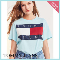 【Tommy Jeans】新色登場☆トミー 90s ロゴ Tシャツ ブルー