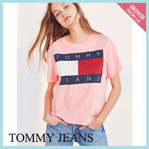 【Tommy Jeans】新色登場☆トミー 90s ロゴ Tシャツ ピンク