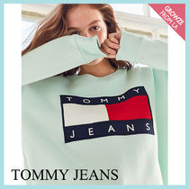 【Tommy Jeans】新作☆トミー 90s ロゴ スウェット ターコイズ