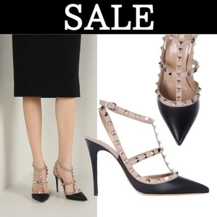 VALENTINO rock studded ankle strap NW2S0393VOD