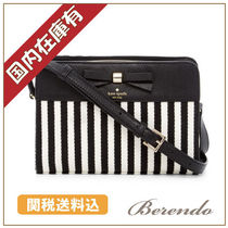 国内在庫有 kate spade Fannie Striped Bow Crossbodyストライプ