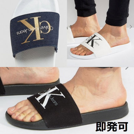 Available logos ride Calvin Klein sandals