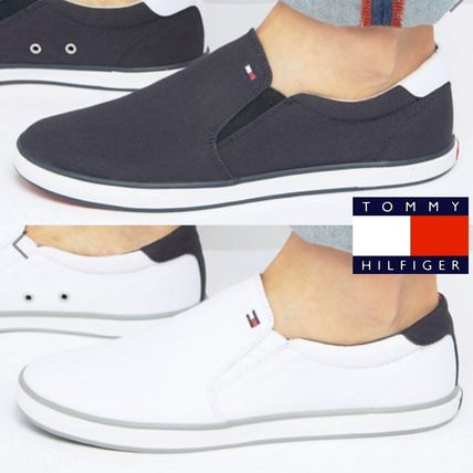 17th SS Tommy Hilfiger canvas Slip-on sneaker 2 color