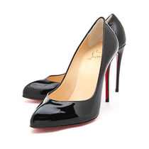 Christian Louboutin 17SS Breche Vernis 100mm パンプス_BLACK