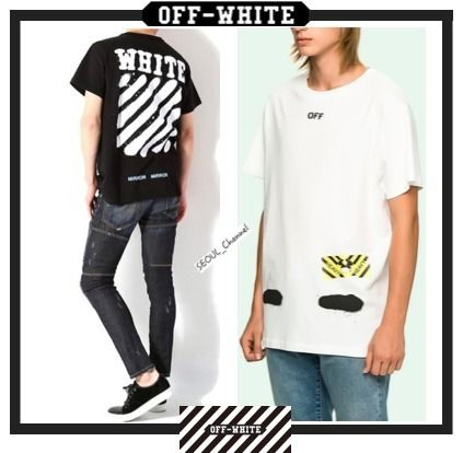 Events in Off-White Diagonal Spray Tshirt