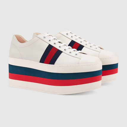 Leather GUCCI inspired platform sneakers