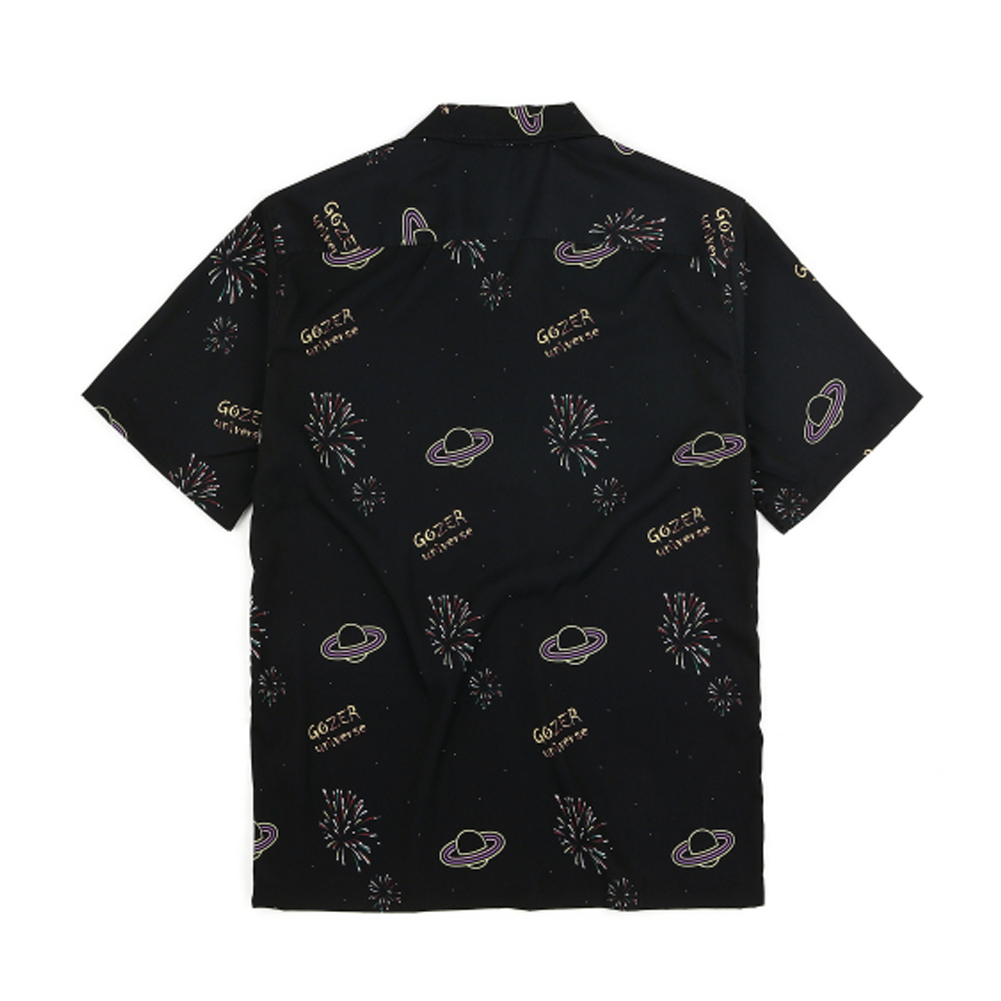 日本未入庫★GOZER★FIRE WORKS HAWAIIAN SHIRT