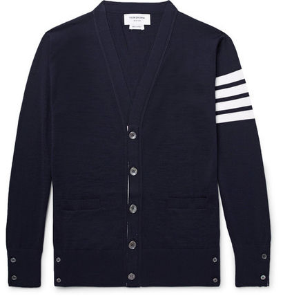 -Super cool-THOM BROWNE men's wool cardigan
