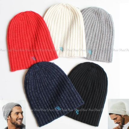 Ron Herman logo with Knit Beanie / cashmere + hemp material