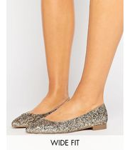 ASOS(エイソス) フラットシューズ ★ASOS★ LACEY Wide フィット Pointed Ballet Flats