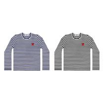 COMME des GARCONS Play レッドハートボーダーロングTシャツ