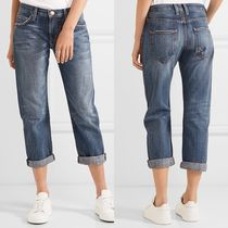 ☆ Current Elliott The Boyfriend cropped mid-rise jeans